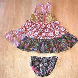 Matilda Jane Fall dress with bloomers